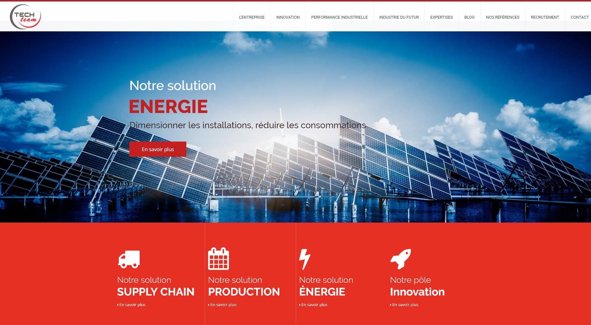 Techteam - Diaporama de la page d'accueil