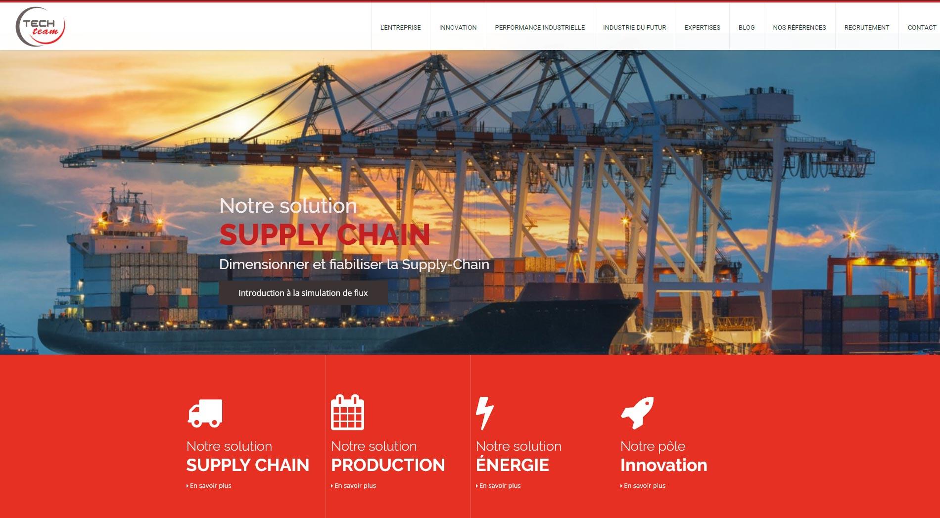 Refonte graphique du site Techteam - Diaporama de la page d'accueil