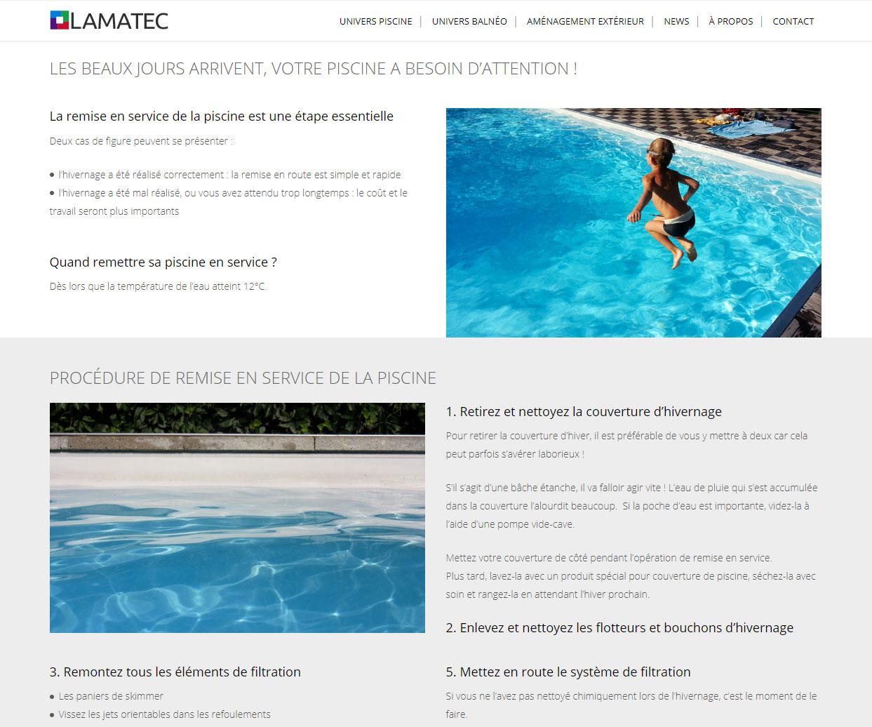 Page Entretien de la piscine