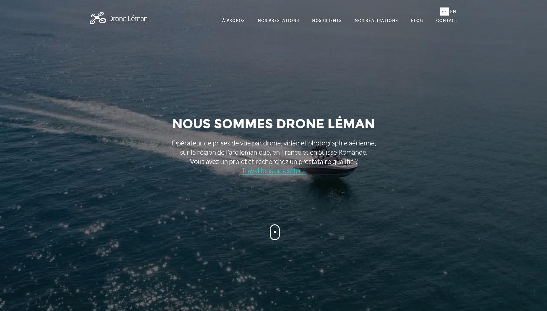 Création web, webdesign, wordpress - droneleman.com, bannière vidéo de page d'accueil