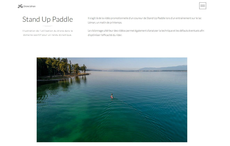 Création web, webdesign, wordpress - Création du site droneleman.com- Page portfolio
