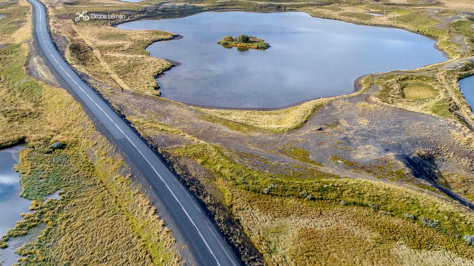Création web, webdesign, wordpress : site droneleman.com - Islande vue du ciel