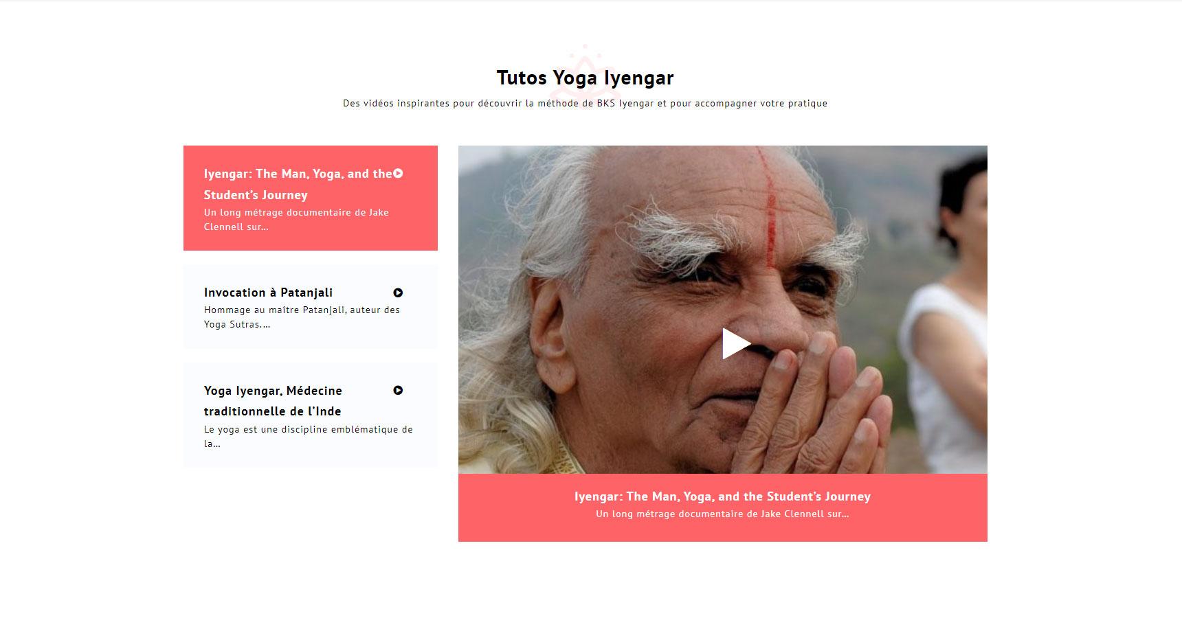Création du site Yoga Thonon, tutos vidéo
