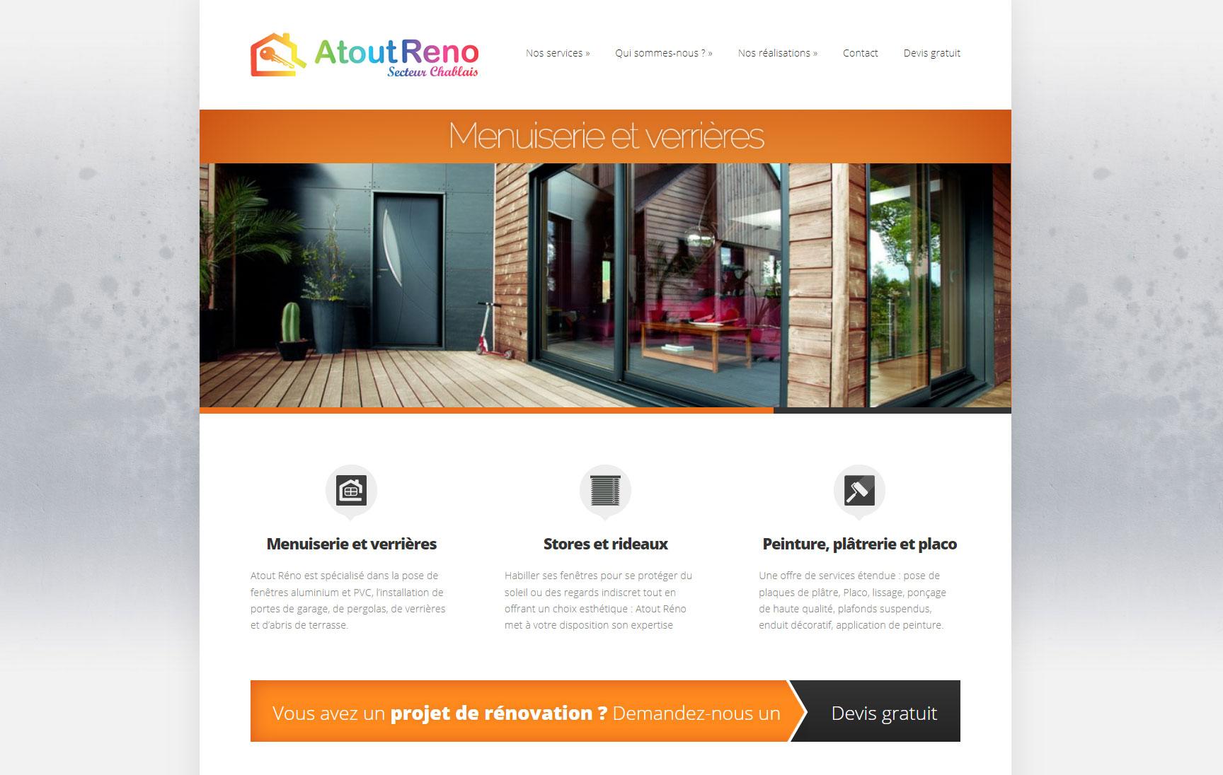 Refonte du site Atout Réno - Graphisme, ergonomie, webdesign
