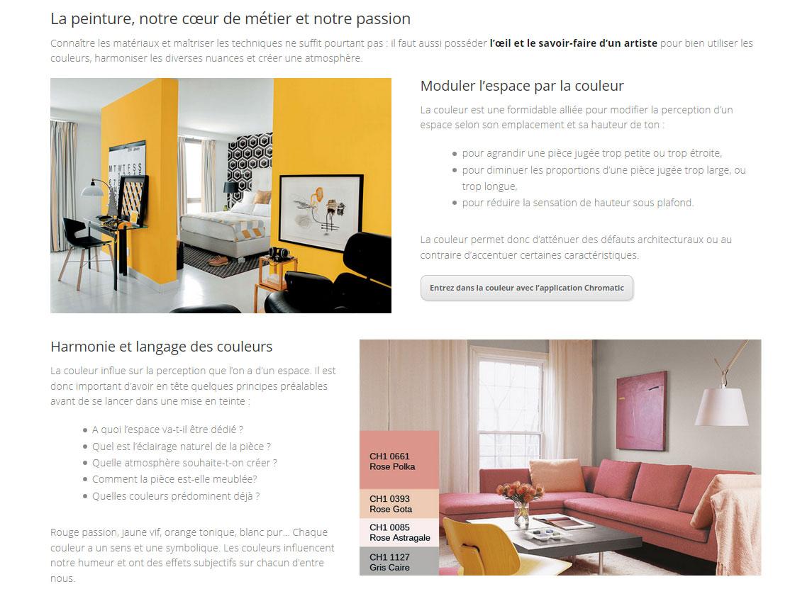 Création de site Atout Réno, travaux de rénovation en Chablais - Page Services/Peinture