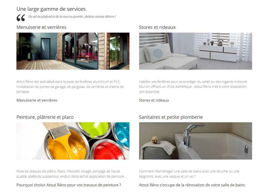 Création de site Atout Réno, travaux de rénovation en Chablais - Page Services